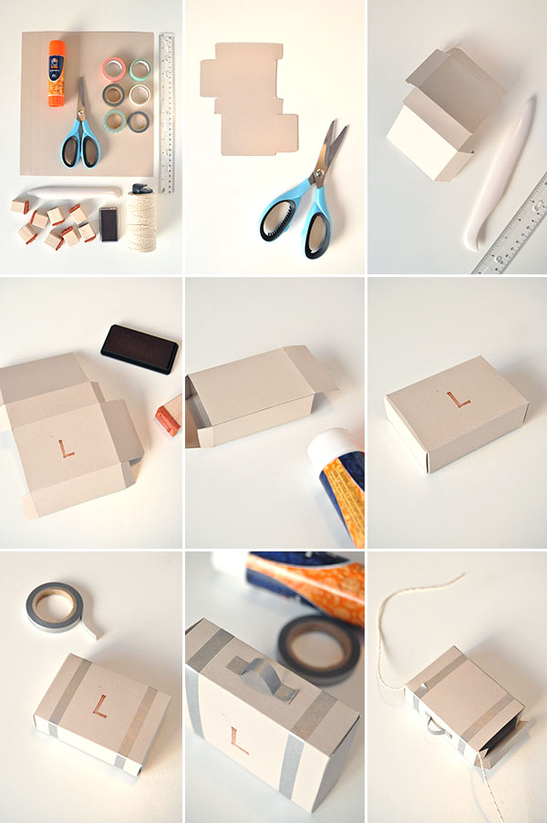 Paper Suitcase Garland | Oh Happy Day!