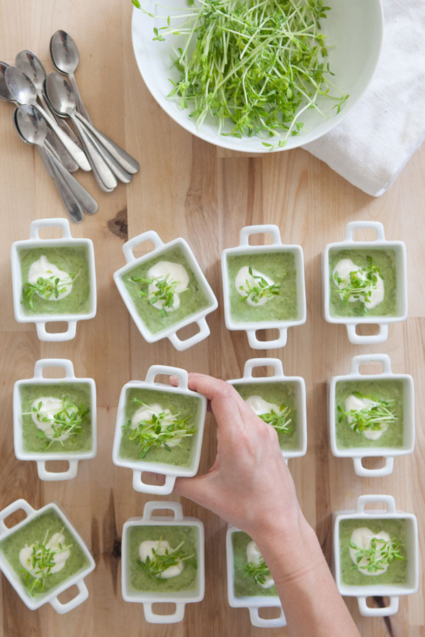 Asparagus Soup with Creme Fraiche Recipe | Oh Happy Day!