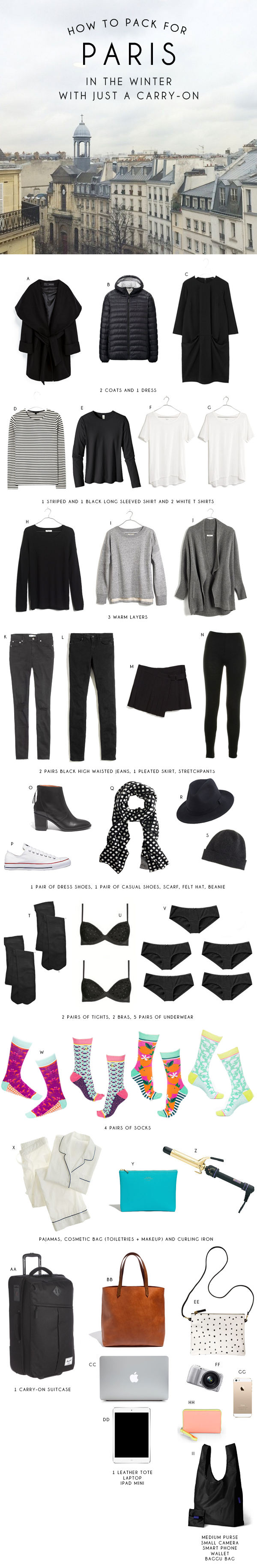 How to Pack for Paris in Just a Carry-On