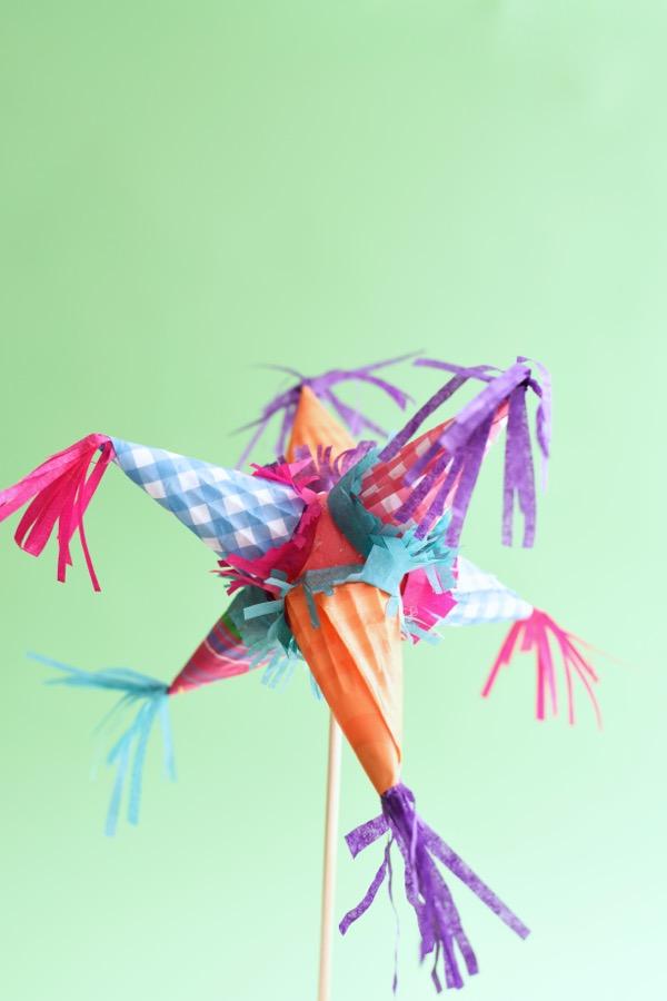 Mini Piñata Cake Topper (and Mobile) DIY | Oh Happy Day!