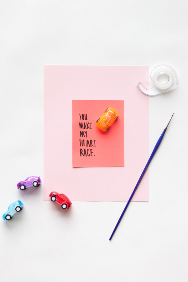 Car Valentine | 14 Awesome Candy-Free Valentines | Oh Happy Day