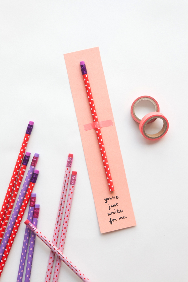 Pencil Valentine | 14 Awesome Candy-Free Valentines | Oh Happy Day