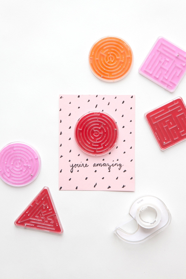 Maze Valentine | 14 Awesome Candy-Free Valentines | Oh Happy Day