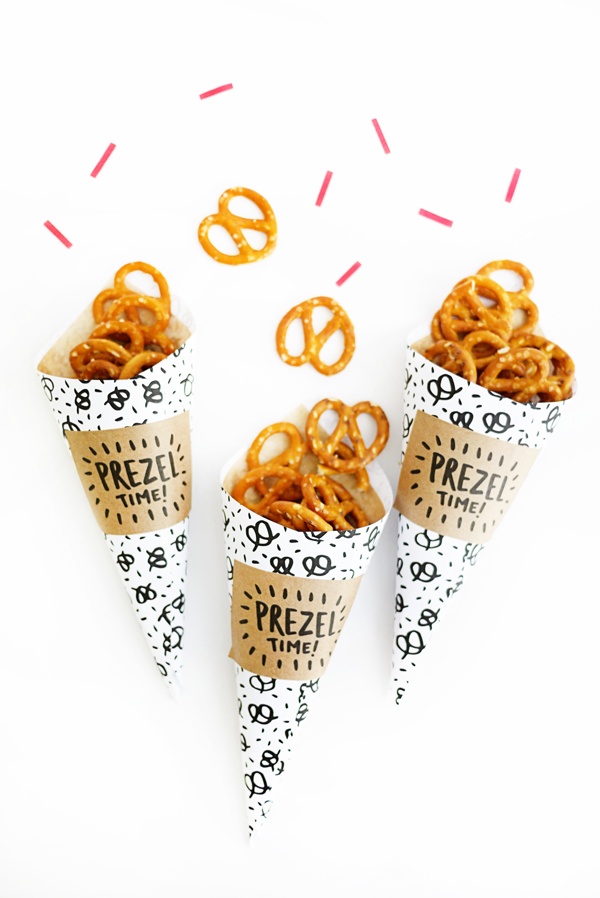 Printable Pretzel Cones | Oh Happy Day!