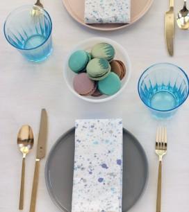 Splatter Paint Napkins | Oh Happy Day!