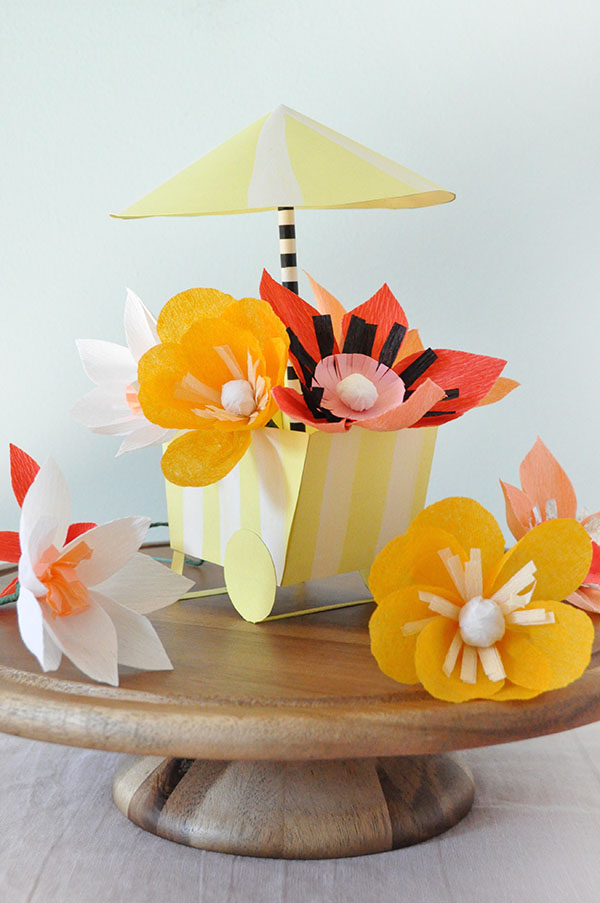 DIY Paper Flower Cart | Oh Happy Day!