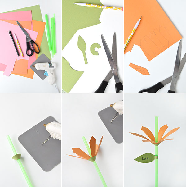 DIY Flower Straws | Oh Happy Day!