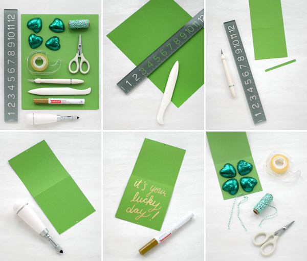 Chocolate Shamrock Cards   Oh Happy Day!