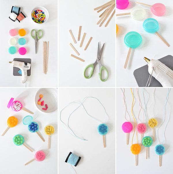 Lollipop Favor Necklaces | Oh Happy Day!