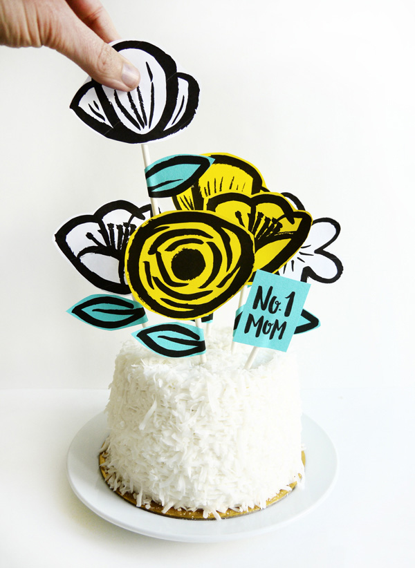 printable mother s day garden cake topper. Black Bedroom Furniture Sets. Home Design Ideas