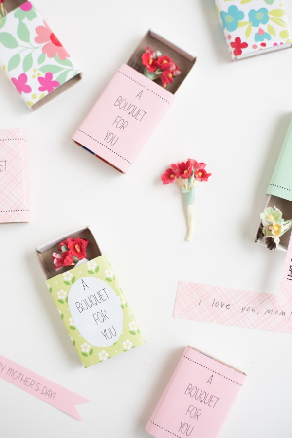 Mother's Day Matchbox Bouquets DIY | Oh Happy Day!