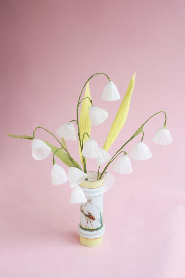 Baking Cups Lily of the Valley DIY   Oh Happy Day!