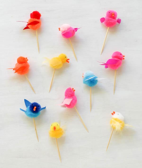 Pom Pom Bird Picks | Oh Happy Day!