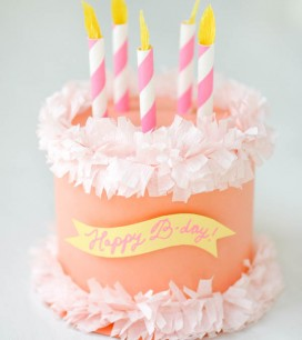 Paper Birthday Cake Box   Oh Happy Day!
