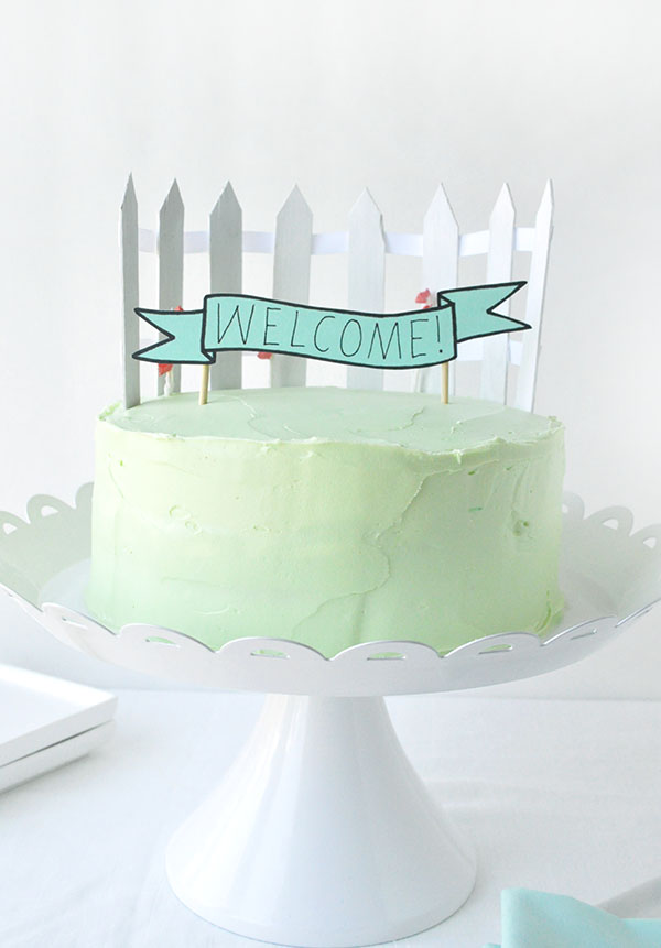 White Picket Fence Cake Topper | Oh Happy Day!