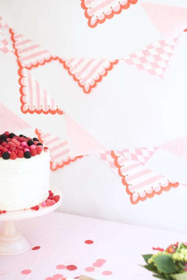 Pretty Paper Napkin Garland DIY   Oh Happy Day!