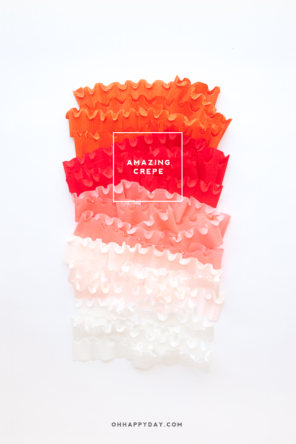 Amazing Crepe Paper | Oh Happy Day!