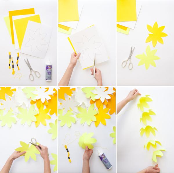 Hanging Flower Garland DIY | Oh Happy Day!