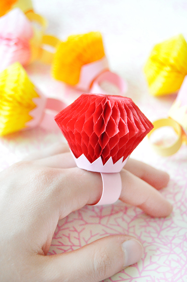 Honeycomb Rings DIY | Oh Happy Day!