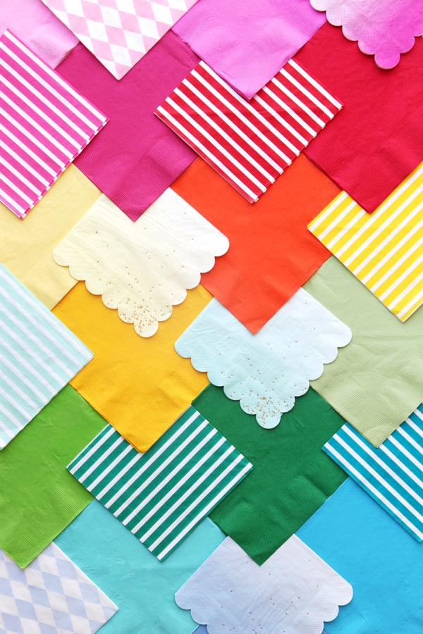 Pretty Paper Napkins | Oh Happy Day!