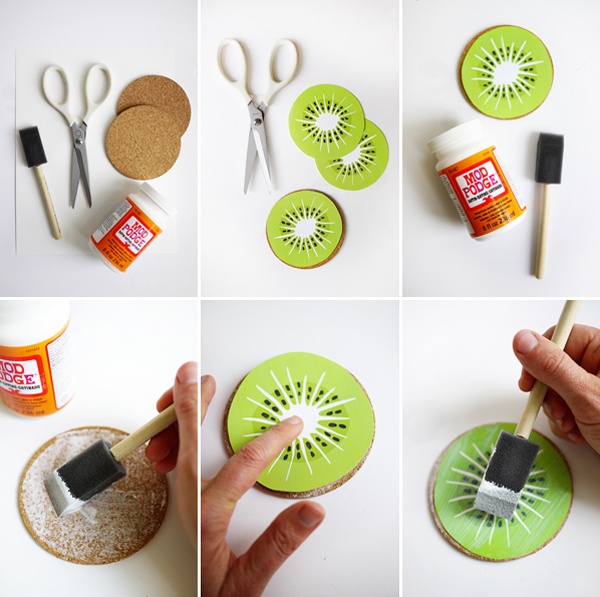 Printable Kiwi Drink Coasters | Oh Happy Day!