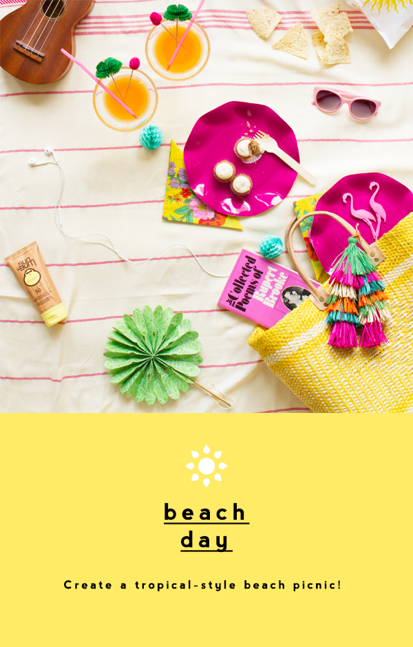 A Tropical Beach Picnic! | Oh Happy Day!