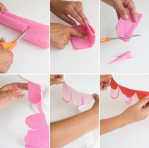 Cake Stand Bunting DIY  | Oh Happy Day!