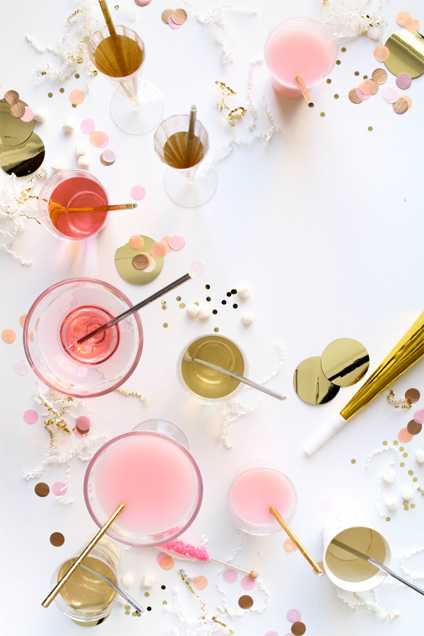Metallic Straws | Oh Happy Day!