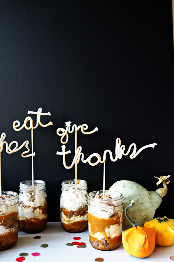 Thanksgiving Dessert Toppers DIY + Recipe | Oh Happy Day!