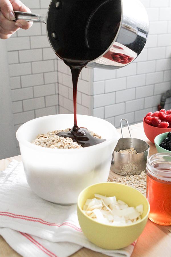 Cocoa Honey Granola Recipe | Oh Happy Day!