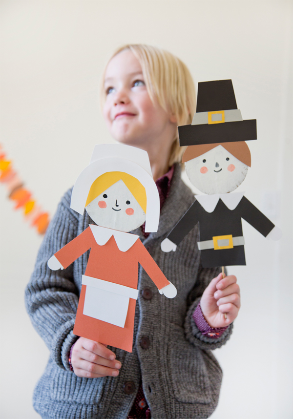 DIY Thanksgiving Puppets | Oh Happy Day!