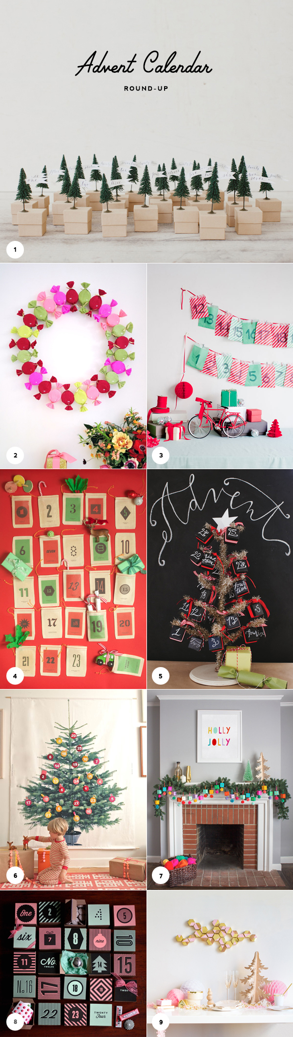 9 Creative DIY Advent Calendars | Oh Happy Day!