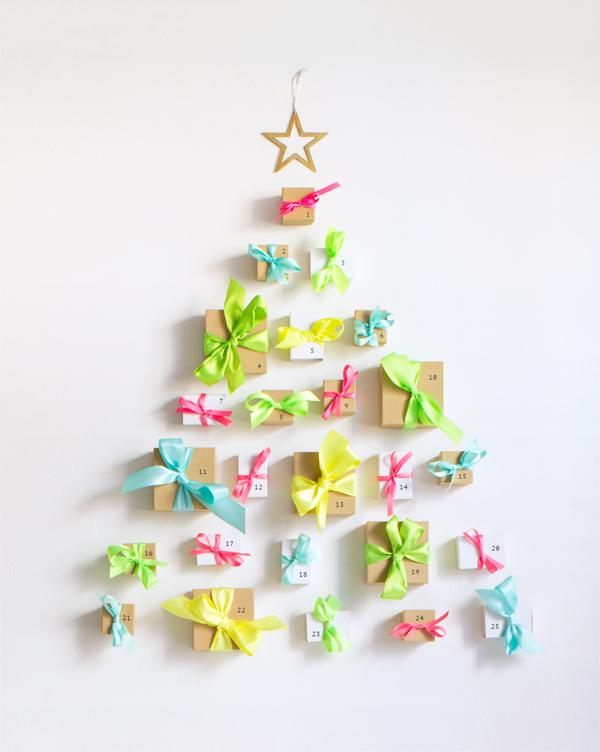 Neon Ribbon Advent Calendar | Oh Happy Day!