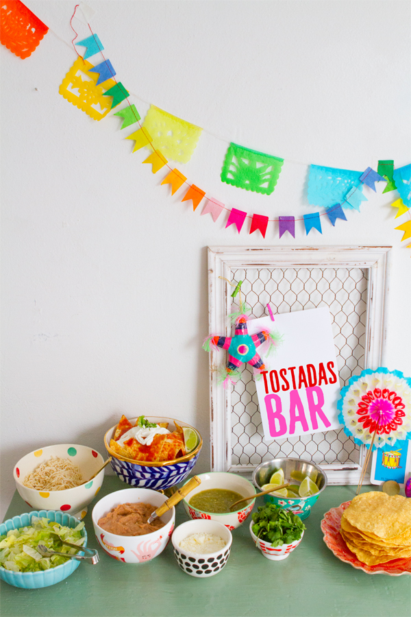 Holiday Tostada Bar | Oh Happy Day!