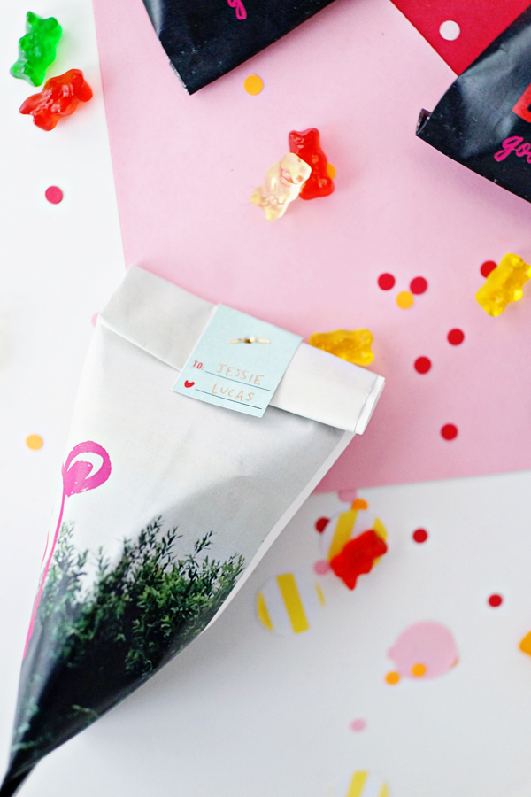 Valentine's Day Beary Favor Bags DIY + Free Printables | Oh Happy Day!