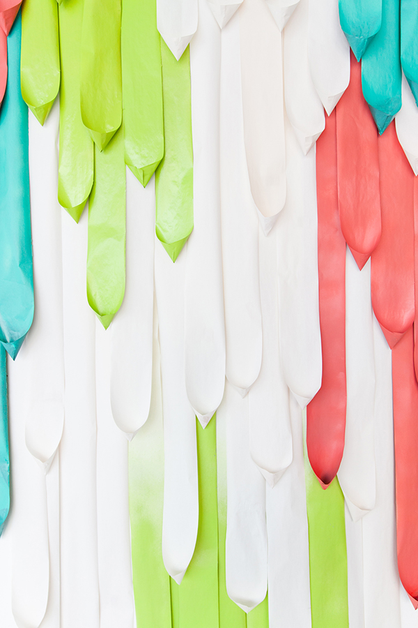 Paper Drape Backdrop DIY | Oh Happy Day!