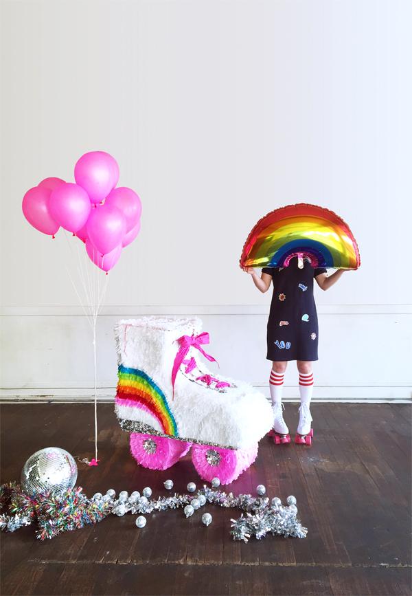 DIY Roller Skate Piñata | Oh Happy Day!