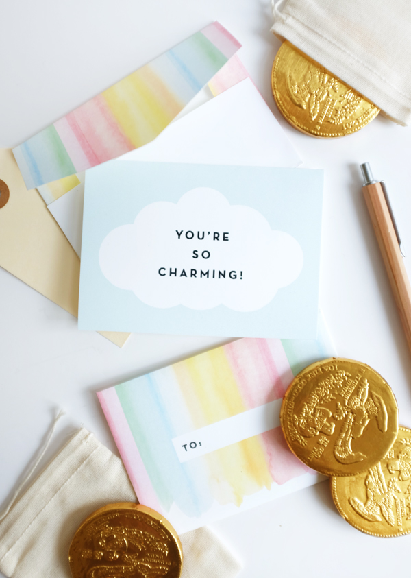Printable Watercolor Rainbow Stationery | Oh Happy Day!