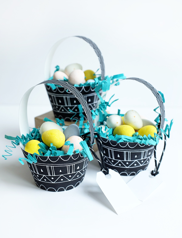 Printable Mini Patterned Egg Baskets | Oh Happy Day!