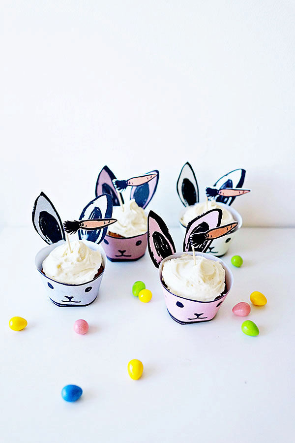 Bunny Cupcake Holders DIY + Recipe | Oh Happy Day!