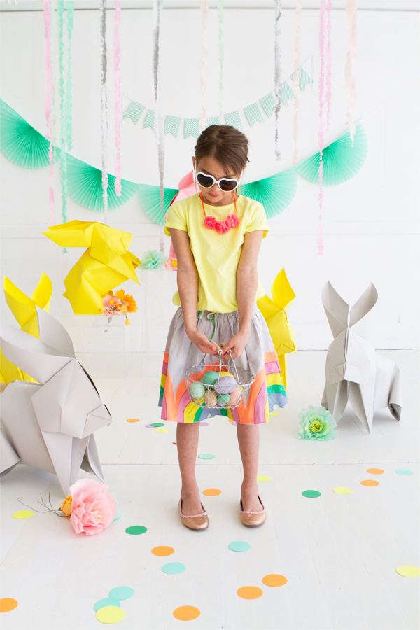 DIY Giant Origami Bunnies | Oh Happy Day!