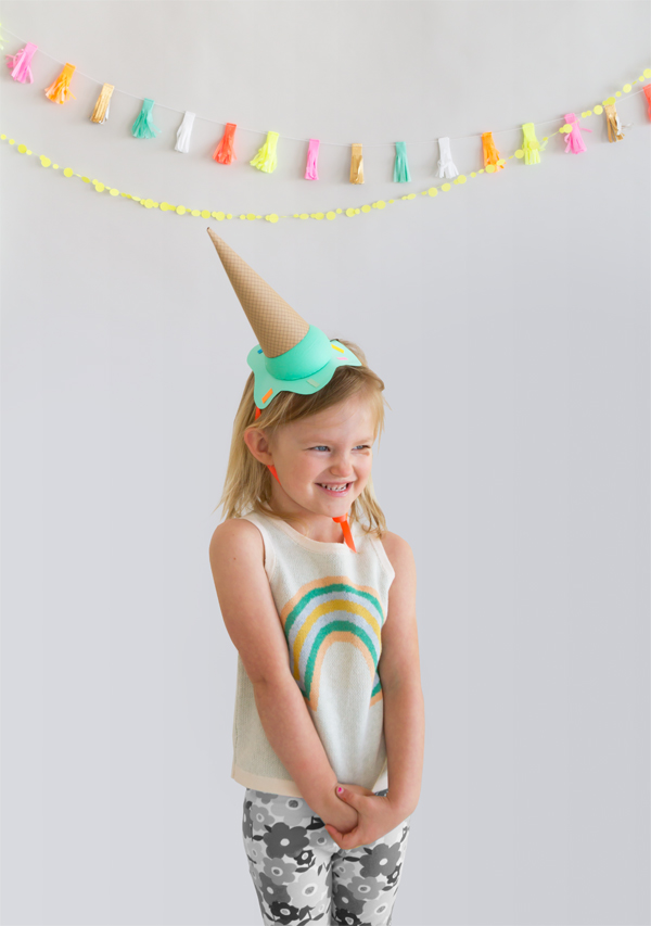 DIY Melting Ice-cream Party Hats | Oh Happy Day!