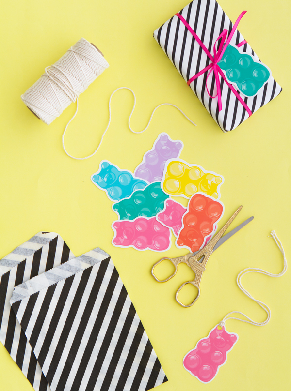 Free Printable Gummy Bears   Oh Happy Day!