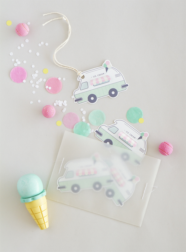 Free Printable Ice-Cream Truck Gift Tags | Oh Happy Day!