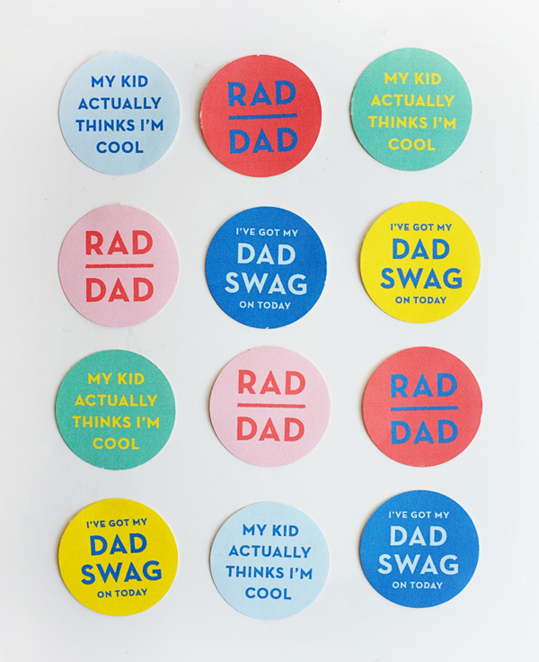 printable dad swag stickers