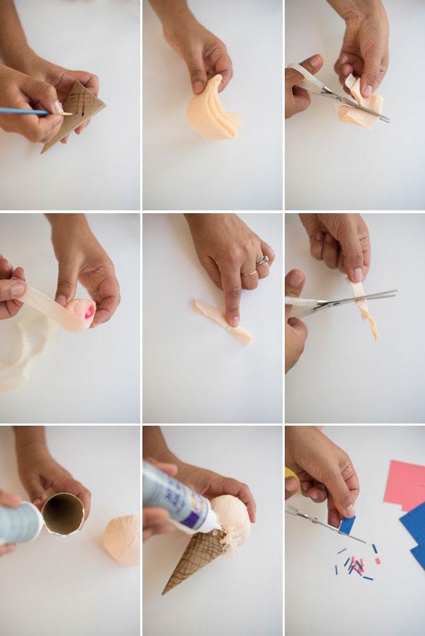 Ice Cream Cone Surprise Ball DIY  | Oh Happy Day!