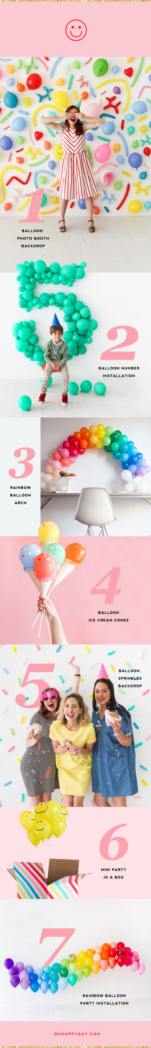 7 Awesome Balloon Projects | Oh Happy Day!