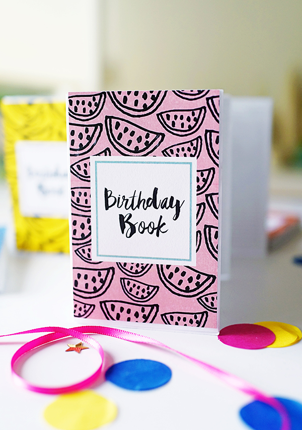 Accordion Birthday Books DIY + Template | Oh Happy Day!