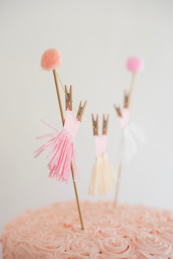 Ballerina tutu cake topper diy oh happy day bloglovin for Pin the tutu on the ballerina template