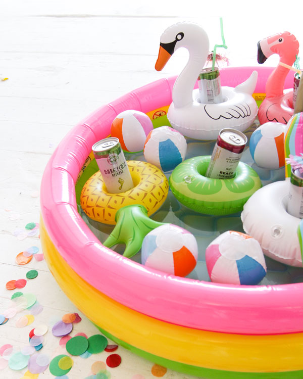 Floating Food Ideas: Mini Pool Float Drink Holders